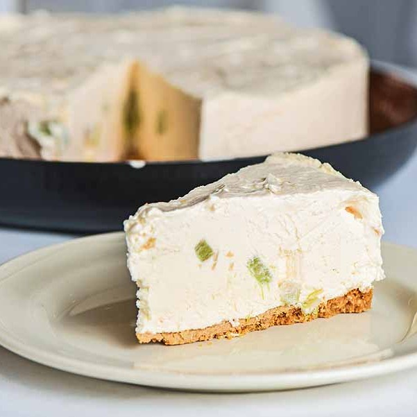 GIN CHEESECAKE - Plated up