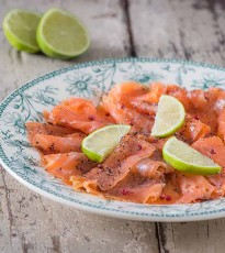 Spiced Gin Cured Salmon