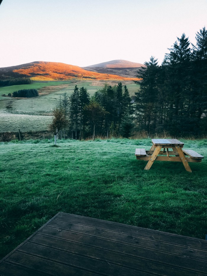 EcoCamp Glenshee - Red hills in backgroud