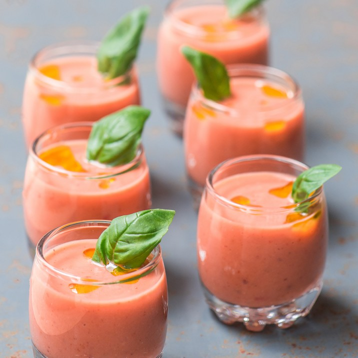 This tasty strawberry gazpacho is perfect when made with sweet, ripe Perthshire  strawberries.