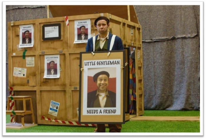 Catherine Wheels Theatre Company presents THE STORY OF THE LITTLE GENTLEMAN. Schools performance. Children's Theatre. Ages P1-4