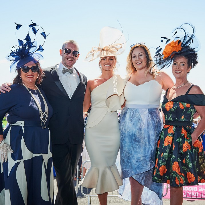 The ever glamourous Elegance of Perth ladies with their winner of the Best Headwear category - Kira!