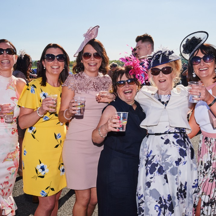 A group of ladies having a great time at Ladies Day 2019.