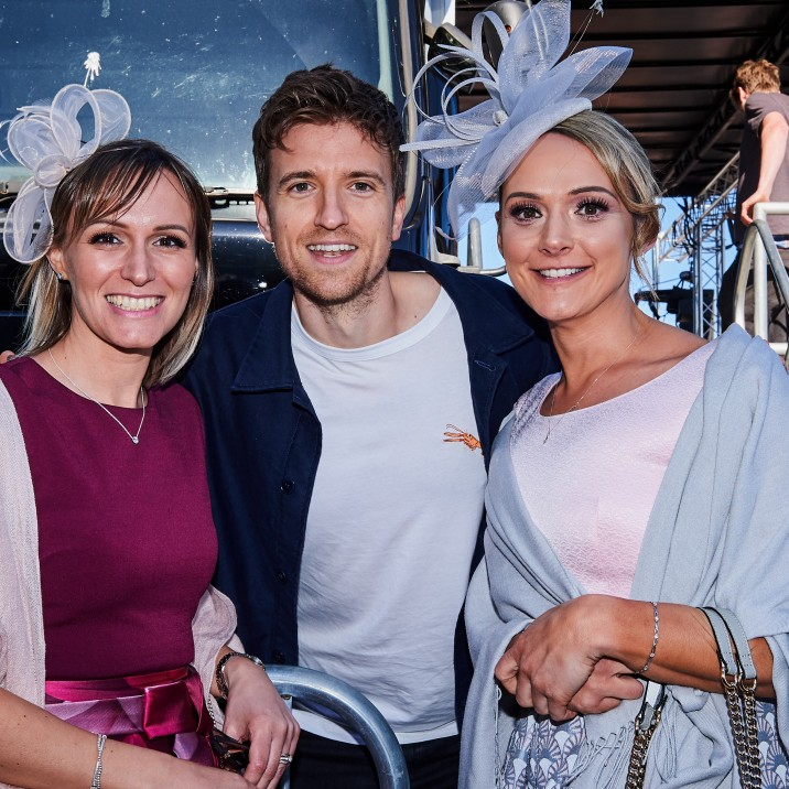 Greg James happily posed with fans after his DJ set at Perth Ladies Day.
