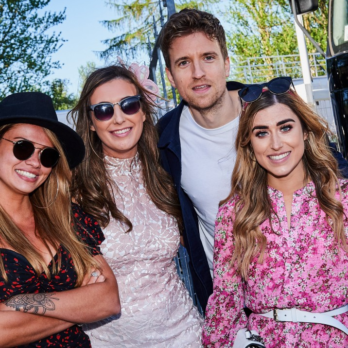 Greg James was the special guest at Ladies Day at Perth Racecourse 2019.