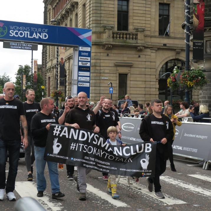 Andy's Man Club - an  official Small City favourite! - joined in on the Parade and set up stall in the Pride Village.