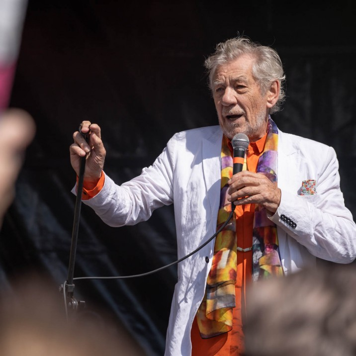The inspirational Sir Ian McKellen was the perfect man for Perth's first ever Pride Parade. #LoveIsLove
