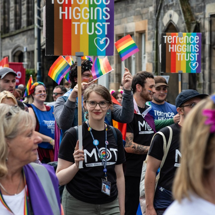The Terrance Higgins Trust marched proudly in Perth City Centre.